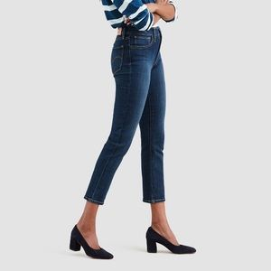 Levi's High Rise Straight Cropped Ankle Jeans